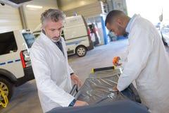 Paramedics preparation bed unit Stock Images