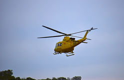 Paramedics Rescue Helicopter Stock Photo