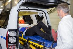 Paramedics to the rescue. Emergency royalty free stock photos
