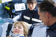 Paramedics With Patient Royalty Free Stock Image