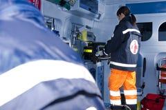 Paramedics At Work Royalty Free Stock Photos