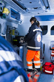 Paramedics At Work Royalty Free Stock Images