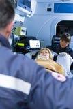 Paramedics At Work Royalty Free Stock Photo