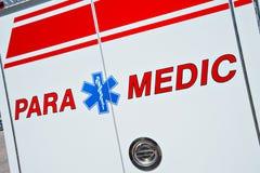 Paramedicusvrachtwagen Royalty-vrije Stock Foto's