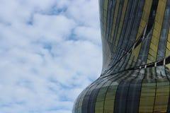 Parametrische Architektur - Cité du Vin lizenzfreie stockbilder