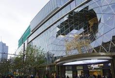 Parametrisches Glas in der Architektur stockbilder