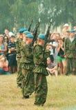 Paramilitares que estão na formação Fotos de Stock Royalty Free