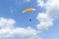Paramotor on blue sky Royalty Free Stock Image