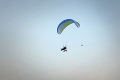 Paramotor in the blue sky Stock Photography