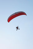 Paramotor in the blue sky Stock Image