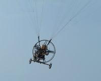 Paramotor flying Royalty Free Stock Images