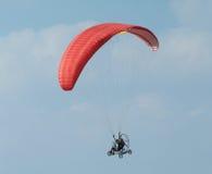 Paramotor flying Royalty Free Stock Photo