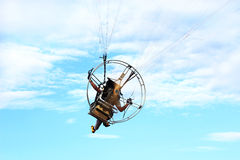 paramotor flying Royalty Free Stock Image