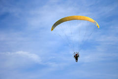 Paramotor. Flying in the sky Stock Image