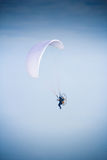 Paramotor glider flyes in the air Stock Photography