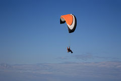 Paramotor glider in the sky Royalty Free Stock Photography