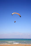 Paramotor glider in the sky Royalty Free Stock Images