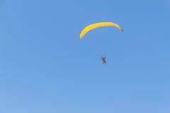 Paramotor at Guarita beach in Torres Royalty Free Stock Photography
