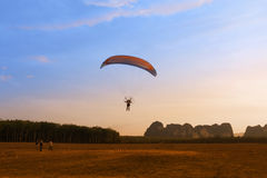 Paramotor at Krabi province Royalty Free Stock Photo