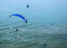 Paramotor over the sea Stock Photo