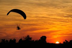 Paramotor Silhouette Royalty Free Stock Images