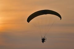 Paramotor Silhouette Stock Photography