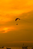 Paramotor in the sunset Royalty Free Stock Photos