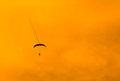Paramotor in the sunset Royalty Free Stock Photography