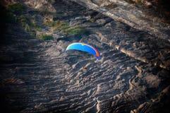 Paramotor-Vogelperspektive lizenzfreies stockbild