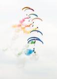 Paramotors авиасалона Стоковые Фото