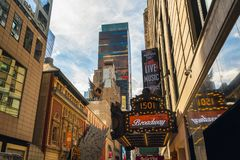 Times Square. Paramount Building, 1501 Broadway. stock images
