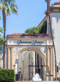 Paramount Pictures Entrance and Sign Stock Images
