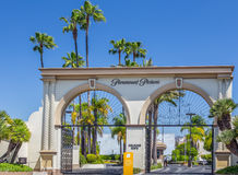 Paramount Pictures Entrance and Sign Royalty Free Stock Photography
