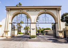 Paramount Pictures Melrose Gate Hollywood on the 14th August, 2017 - Los Angeles, LA, California, CA. USA Royalty Free Stock Photography
