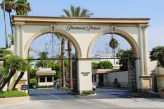 The Paramount Pictures Studios, Melrose Gate. Studio tours. Los Angeles, USA. 11 September 2012 Royalty Free Stock Image