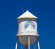 Paramount Pictures Water Tower and Sign Stock Images