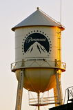 Paramount Studio`s Water Tower. Trivia:Marilyn Monroe then Norma Jean Baker lived in an Orphanage in Hollywood in the mid-1930`s. Her room was facing the RKO now Stock Photo
