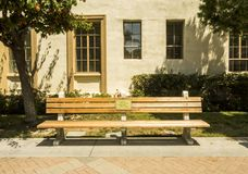 Paramount Studios Pictures, Forest Gump original bench, Hollywood Tour on the 14th August, 2017 - Los Angeles, LA, California, CA Stock Photos