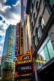 Paramount Theater, along Washington Street in Boston, Massachuse Royalty Free Stock Photography