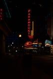 Paramount-Theater in Boston nachts Stockfotografie