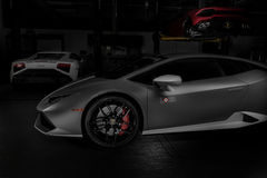 Paramus NJ - September 24th 2016 - 1 av 250 Lamborghini Huracan Avio Royaltyfria Foton