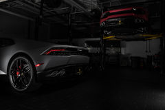 Paramus, NJ - 24 September 2016 - 1 van 250 Lamborghini Huracan Avio Stock Foto's