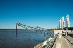 Parana river harbor. In Rosario, Argentina Royalty Free Stock Image