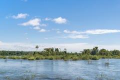 Parana River at Iguazu Falls Stock Images