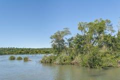 Parana River at Iguazu Falls Royalty Free Stock Image