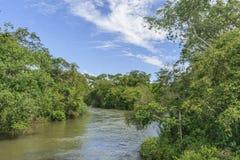 Parana River at Iguazu Park Stock Images