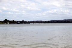 ParanaguÃ-¡ ` s Bucht auf dem bewölkten wheather Lizenzfreies Stockbild
