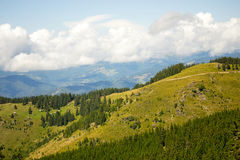 Parang山,南喀尔巴汗,罗马尼亚风景看法  图库摄影