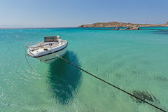 Paranga Beach on the island of Mykonos, Cyclades Islands Stock Photography