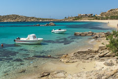 Paranga Beach on the island of Mykonos, Greece Stock Photo